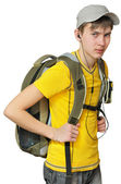 A teenager with a backpack — Stock Photo