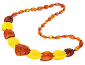 Necklace made of natural Baltic amber — Стоковое фото