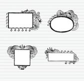 Doodle Frames — Stock Vector
