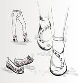 Scarpa moda — Vettoriale Stock