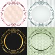 Stock Vector: The round frame in antique style