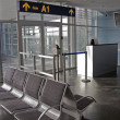 Stock Photo: Airport gate