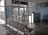 Airport gate — Stockfoto