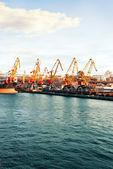 Infrastruktura portów morskich. — Zdjęcie stockowe