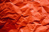 Red crumpled paper. — Stock Photo