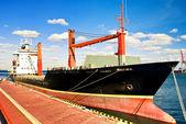 Moorage ship. — Stock Photo