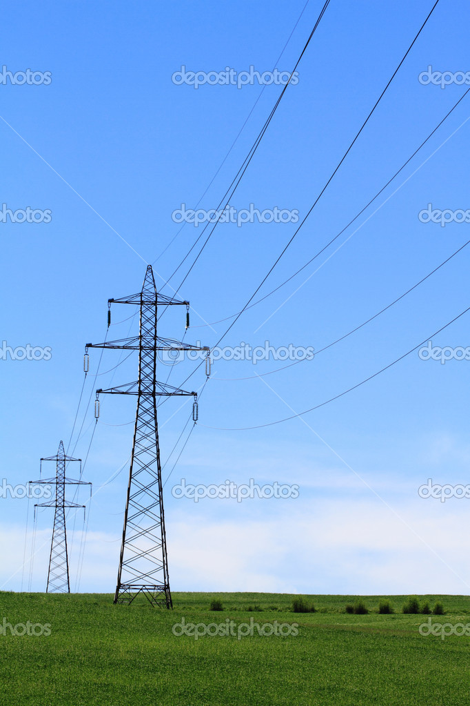 Electric Power Transmission Lines — Stock Photo #10695465