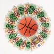 Stock Photo: Basket and money