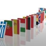 European crisis 3d domino — Stock Photo