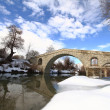 Stone bridge over wintry creek — Stock Photo #9402122