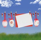 Wielkanoc karta — Zdjęcie stockowe