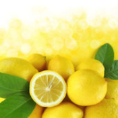 Background of fresh lemons — Stock Photo