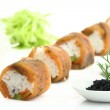 Salmon sushi and caviar — Stock Photo #9893590