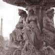 Place de la Concorde and Eiffel Tower, Paris — Stock Photo