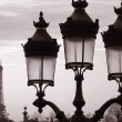 Eiffel Tower and Lamppost, Paris — Stock Photo