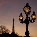 Pont Alexandre III Bridge with the Eiffel Tower, Paris — Stock Photo