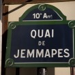 Steet Sign, Paris — Stock Photo #8536347