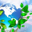 Spring leafs background with place for your text. Ecological concept — Stock Photo