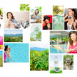 Set of colorful travel photos of nature, , landmarks and touristic related destinations isolated on white background - Stock Photo