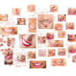 Faces of smiling in set. Healthy teeth. Smile — Stock Photo #10595590
