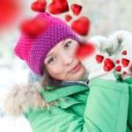 Happy girl thinking of love — Stock Photo