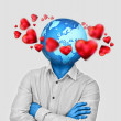 youngman thinking about love and business at a time — Stock Photo