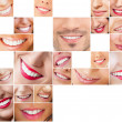Faces of smiling in set. Healthy teeth. Smile — Stock Photo #8660503