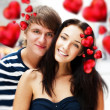 Closeup of young couple embracing and very happy to be together. — Fotografia Stock  #8661291
