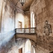 Architectural elements with ancient stairs and arches in high de - Stock Photo