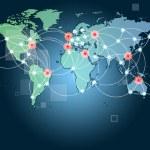 globální sítě symbol představovat mezinárodní komunikace — Stock fotografie