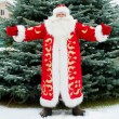 Full Length Portrait of Santa Claus standing with open hands out — Stock Photo