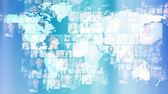 фото бизнеса светящиеся на карте мира. международный — Стоковое фото