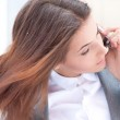 Portrait of beautiful business woman on the phone — Stock Photo #9105947