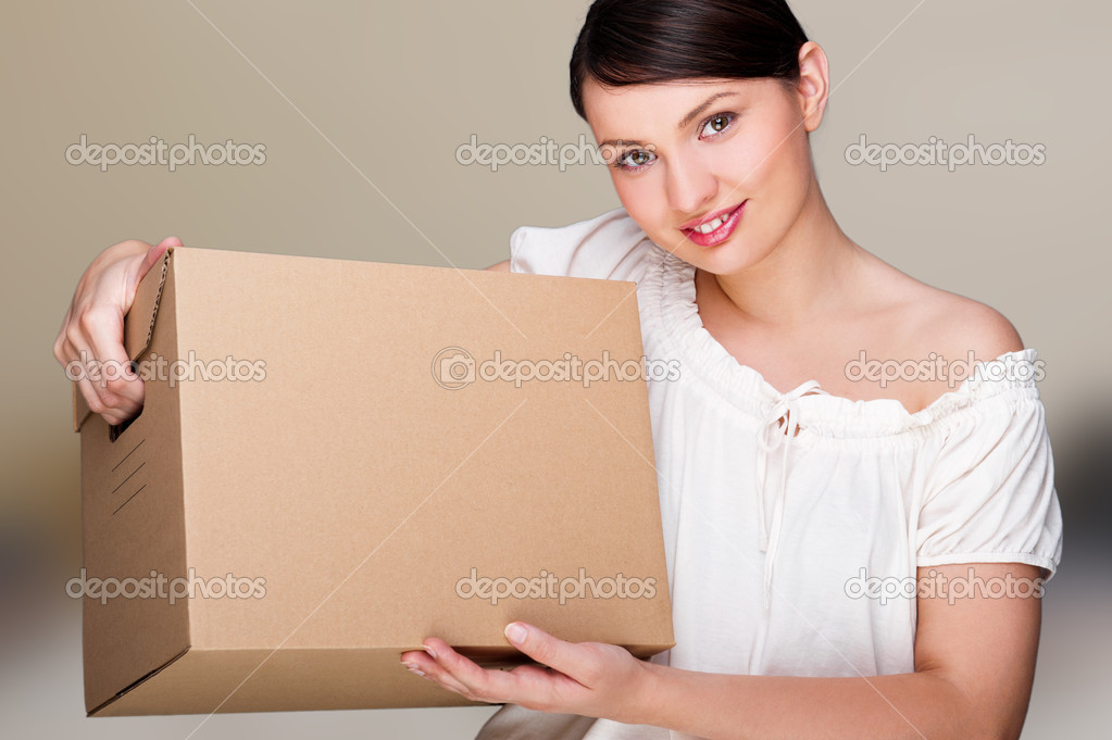 Young woman moving into a new home. Great copyspace — Stock Photo #9248942