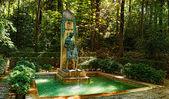 Alhambra giardino, granada, spagna — Foto Stock