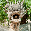 Stone Dragon Statue at Buddha Temple - Dalat, Vietnam - Stockfoto