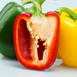 Close up of Three Color Capsicums II — Stock Photo #8045179