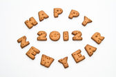 Happy New Year 2012 Biscuits — Stock Photo