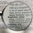 Royalty-Free Stock Photo: Magnifying Business Class