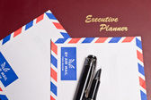 Executive Planner and Two Envelopes — Stock Photo
