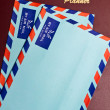 Planner and Blue Envelopes II — Stock Photo
