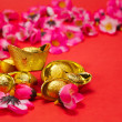 Chinese New Year - Golden Ingots III — Stock Photo
