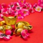 Capodanno cinese - d'oro lingotti iii — Foto Stock