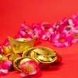 Chinese New Year - Golden Ingots — Stock Photo