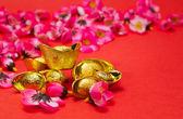 çin yeni yılı - altın külçeler iii — Stok fotoğraf