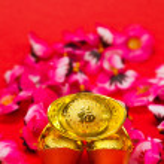 lingotti d'oro per il nuovo anno cinese iii — Foto Stock