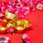 Capodanno cinese - d'oro lingotti iv — Foto Stock