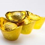 Chinese Gold Ingots Line-up III — Stock Photo
