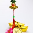 Chinese New Year Ornaments - Gold pineapple — Stock Photo #8496420