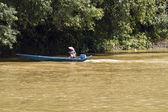 Fisherman on Speed Boat — Stock Photo